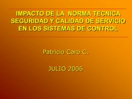 VISION GENERAL DE LA NORMA TECNICA SEGURIDAD Y …
