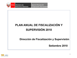 RESULTADOS DEL PLAN ANUAL DE FISCALIZACION-2009