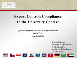 Fulbright & Jaworski Document