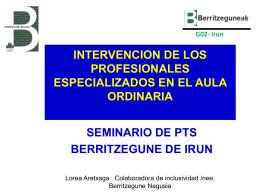 INTERVENCION DE LOS PROFESIONALES …