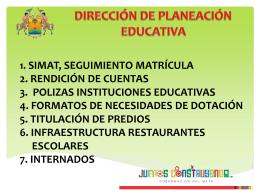 PLAN DE DESARROLLO EDUCACION