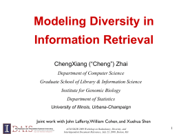 User-Centered Adaptive Information Retrieval
