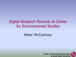 Digital Research Records at Center for Environmental …