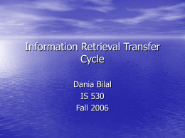 Online Information Retrieval