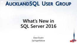 What's New in SQL Server 2016