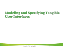 Modeling Tangible User Interfaces