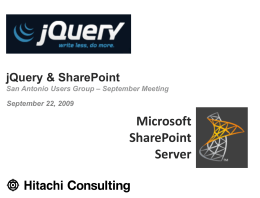 jQuery & SharePoint