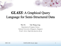 GLASS: A Graphical Query Language for Semi