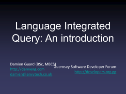 Language Integrated Query: An introduction