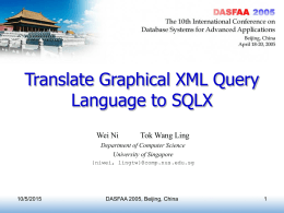 Translate Graphical XML Query Language to SQLX