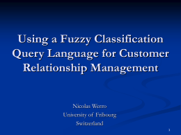 Database Schema with Fuzzy Classification and