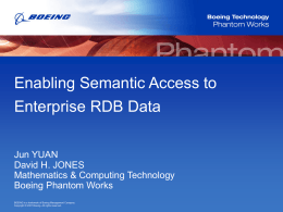 Enabling Semantic Access to Enterprise RDB Data