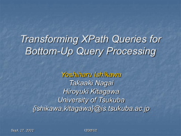 Transforming XPath Queries for Bottom