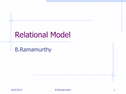 Relational Model - Binus University