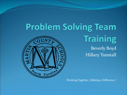 Problem Solving Team Training
