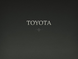 TOYOTA - Homework Market