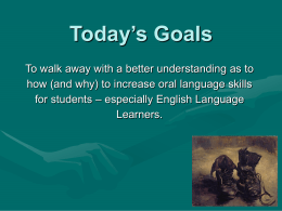 Today's Goals - Edgewood College