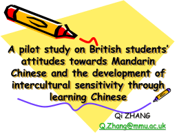 A pilot study on British students' attitudes towards