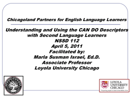 Chicagoland Partners for ELL Education All District