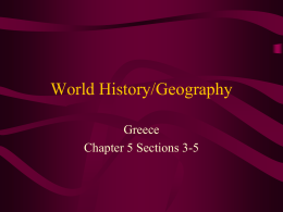 World History/Geography