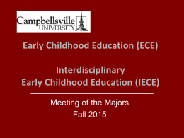 Early Childhood Education Interdisciplinary Early