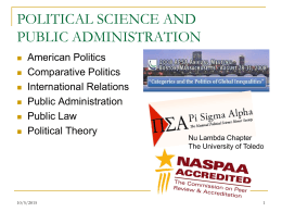 POLITICAL SCIENCE AND PUBLIC ADMINISTRATION