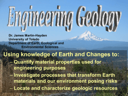Physical Geology - Department of Environmental Sciences