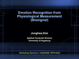 Emotion Recognition for Affective HCI: An Overview