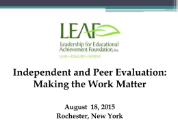 Principal Evaluation in New York State