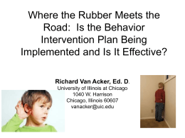 Where the Rubber Meets the Road: Is the Behavior