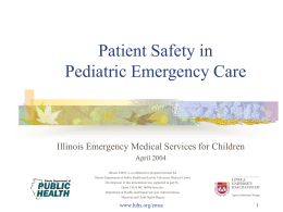 Pediatric Safety - Loyola Medicine