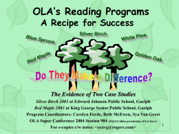 Do OLA Reading Programs Make a Difference?