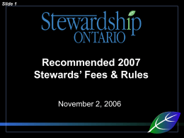 Click to add title - Stewardship Ontario
