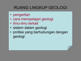 GEOLOGI - Kenthung29's Blog