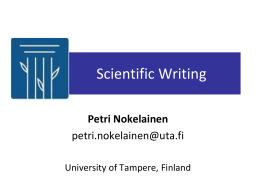 Tieteellinen kirjoittaminen