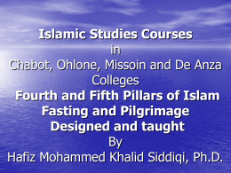 Islamic Studies Courses in Chabot, Ohlone, Missoin and De