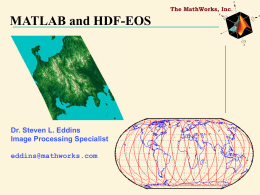 1997 MATLAB Conference PowerPoint Template - HDF-EOS