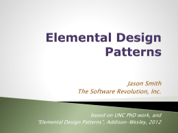 Elemental Design Patterns - University of North Carolina