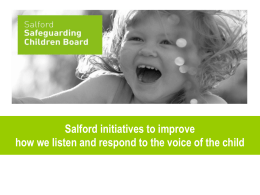 Salford Safeguarding Children Board Multi