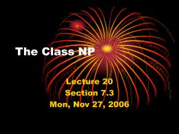 The Class NP - H-SC