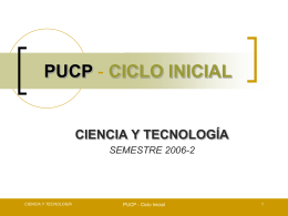 PUCP - CICLO INICIAL