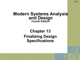 Modern Systems Analysis and Design Ch13