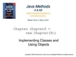 Java Methods A & AB - Skylight Publishing
