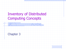 Inventory of Distributed Computing Concepts