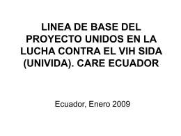 LINEA DE BASE DEL PROYECTO UNIDOS EN LA LUCHA …