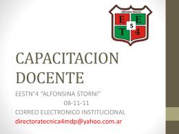 CAPACITACION DOCENTE