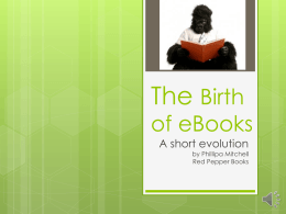 The Birth of eBooks
