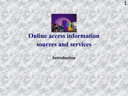 Online information sources - Vrije Universiteit Brussel