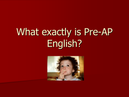 Why Choose Pre-AP?