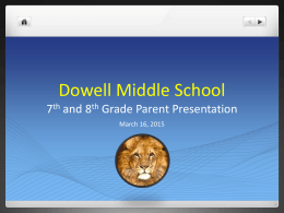 Evans Middle School Parent Presentation